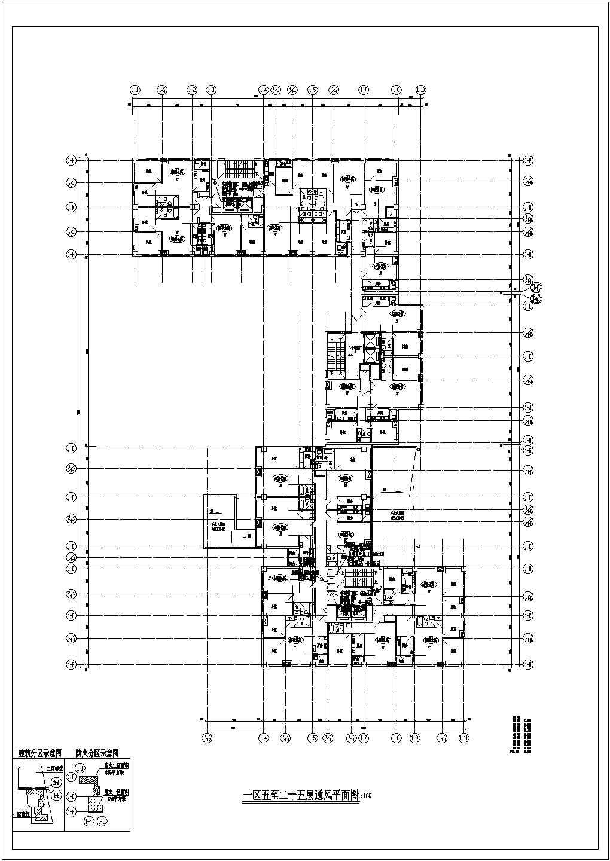 【北京】58342�O某二十五层综合楼暖通空调设计施工图纸图片3