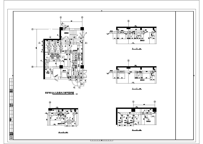 [江西]5800�O地下停车场通风防排烟系统设计施工图(人防设计)图片2