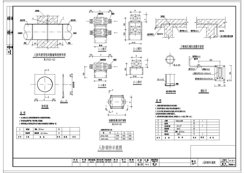 四层商场建筑楼VRV空调通风系统设计施工图(人防系统设计)图片1