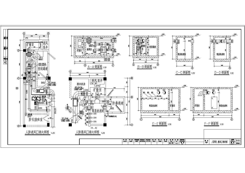 四层商场建筑楼VRV空调通风系统设计施工图(人防系统设计)图片2