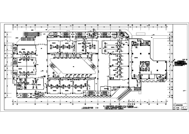 [福建]86390�O二十四层大型火车站广场停车场空调通风与防排烟系统设计施工图(人防设计)图片2