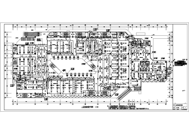 [福建]86390�O二十四层大型火车站广场停车场空调通风与防排烟系统设计施工图(人防设计)图片3