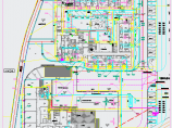某儿童福利院避灾广场管线综合图纸图片3