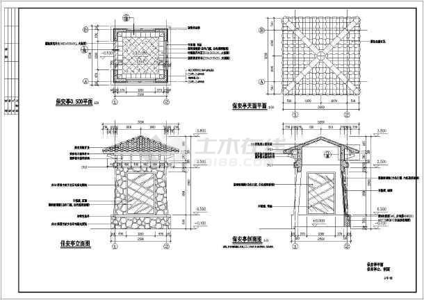[长沙]别墅会所及入口园林景观工程施工图-图1