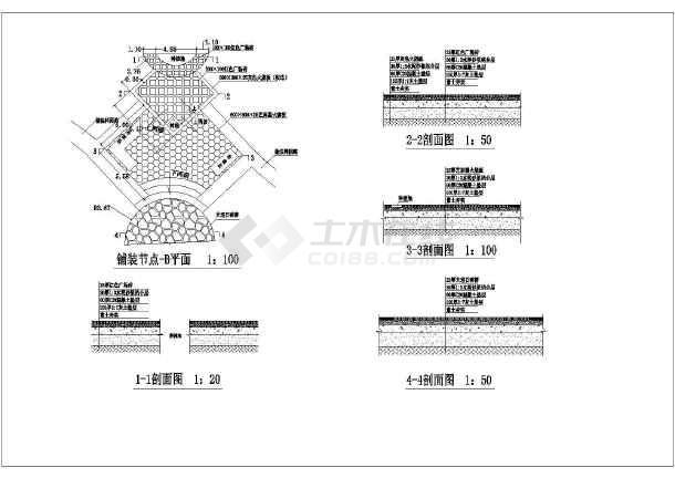 [唐山]带状公园园林景观设计施工图-图1
