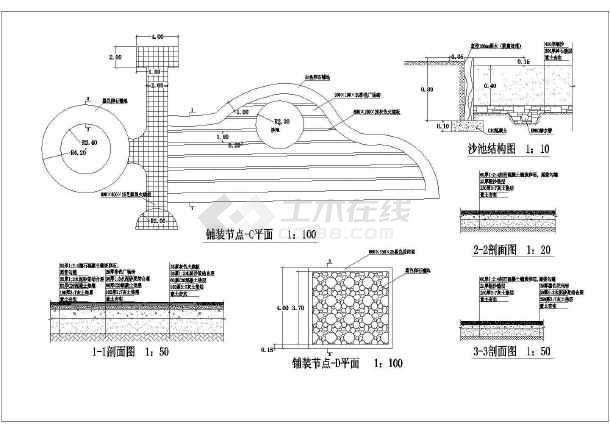 [唐山]带状公园园林景观设计施工图-图2