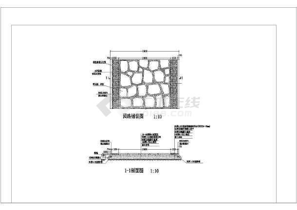 [唐山]带状公园园林景观设计施工图-图3