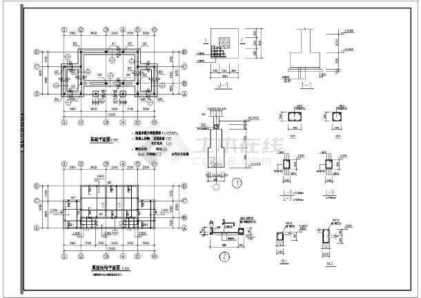 [山海关]滨水公园园林景观工程施工图-图1