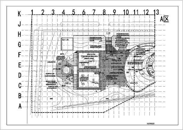 [湖北]城市游园园林景观工程施工图-图一