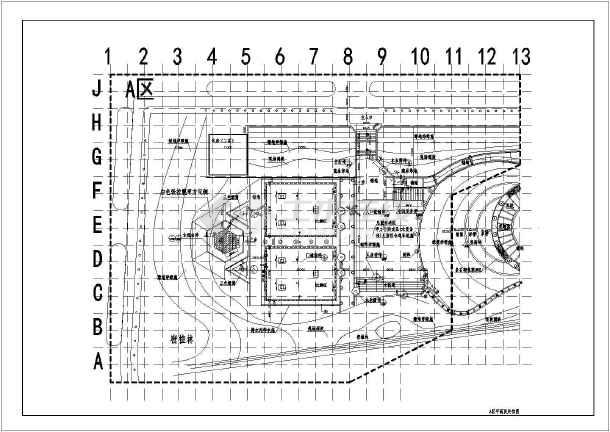 [湖北]城市游园园林景观工程施工图-图二