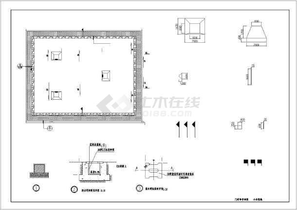 [湖北]城市游园园林景观工程施工图-图3
