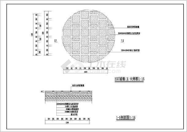 [杭州]居住区园林景观工程施工图-图1