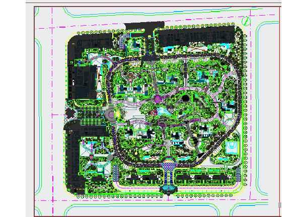 [杭州]住宅小区园林景观绿化种植施工图-图一