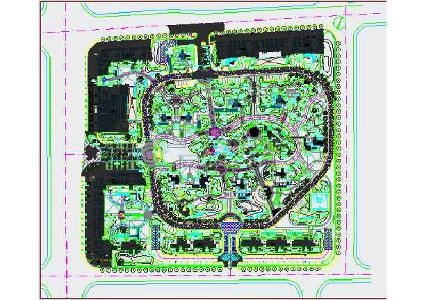 [杭州]住宅小区园林景观绿化种植施工图-图1