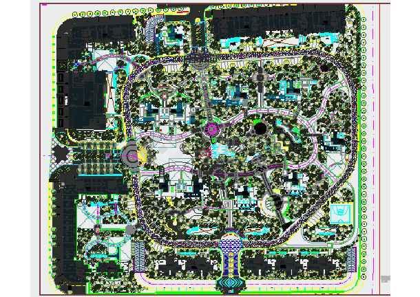 [杭州]住宅小区园林景观绿化种植施工图-图3