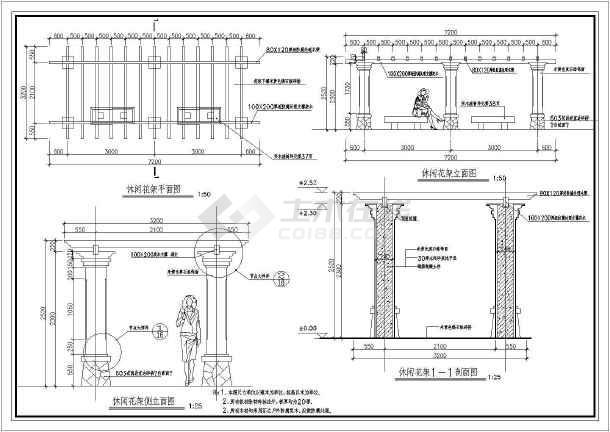 [厦门]居住区园林景观工程铺装设计施工图-图1