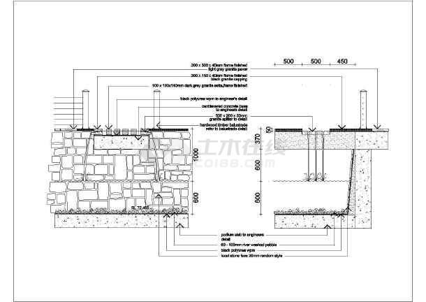 [长沙]花园居住区园林景观工程施工图-图二
