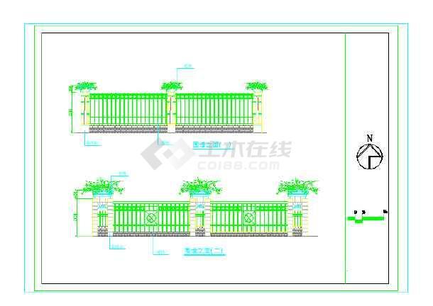 [宁波]居住区园林景观工程施工图-图二