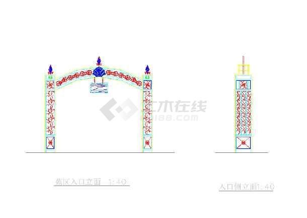[宁波]居住区园林景观工程施工图-图一