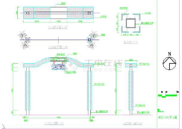 [宁波]居住区园林景观工程施工图-图2