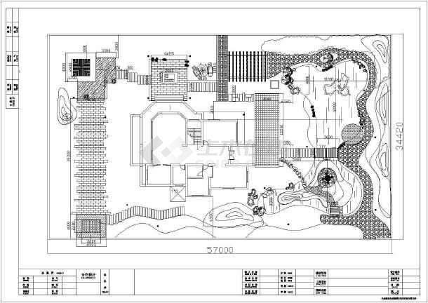 [安徽]独栋别墅庭院园林景观工程施工图-图1