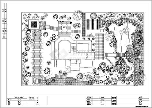 [安徽]独栋别墅庭院园林景观工程施工图-图2