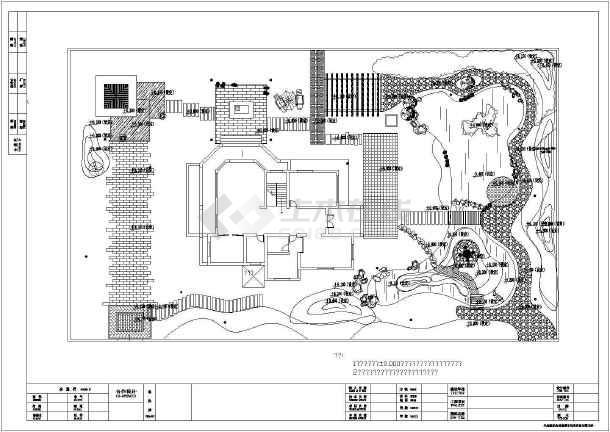 [安徽]独栋别墅庭院园林景观工程施工图-图3