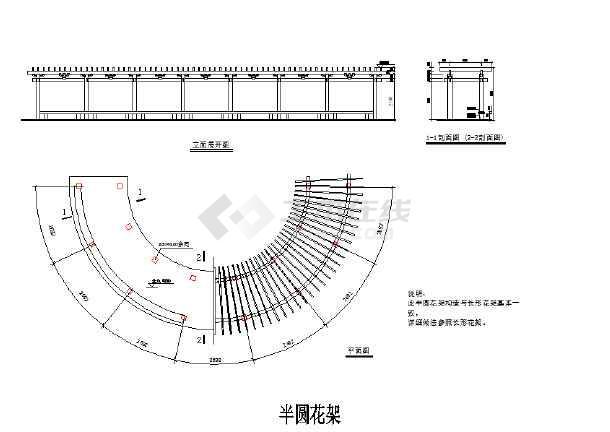 【海南】住宅小区园林工程全套施工图(共27张)-图一