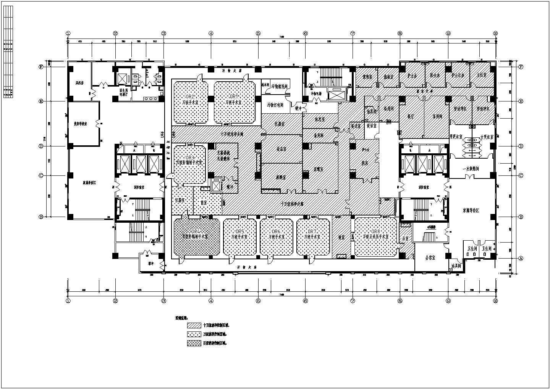 [陕西]手术室洁净空调系统设计施工图(含结构弱电医用气体)图片2