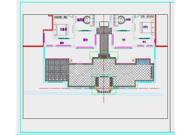 点击查看重庆某别墅区园林景观设计施工图第1张大图