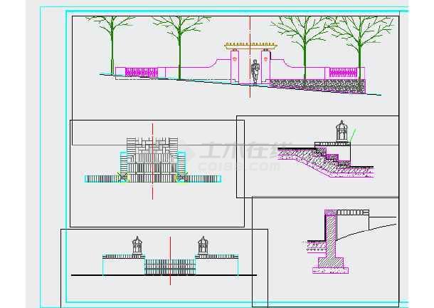 点击查看重庆某别墅区园林景观设计施工图第2张大图