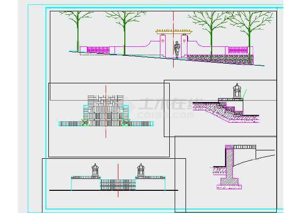 重庆某别墅区园林景观设计施工图-图1