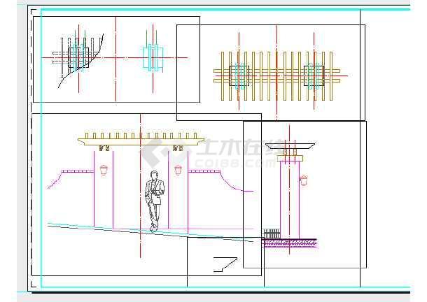 重庆某别墅区园林景观设计施工图-图3