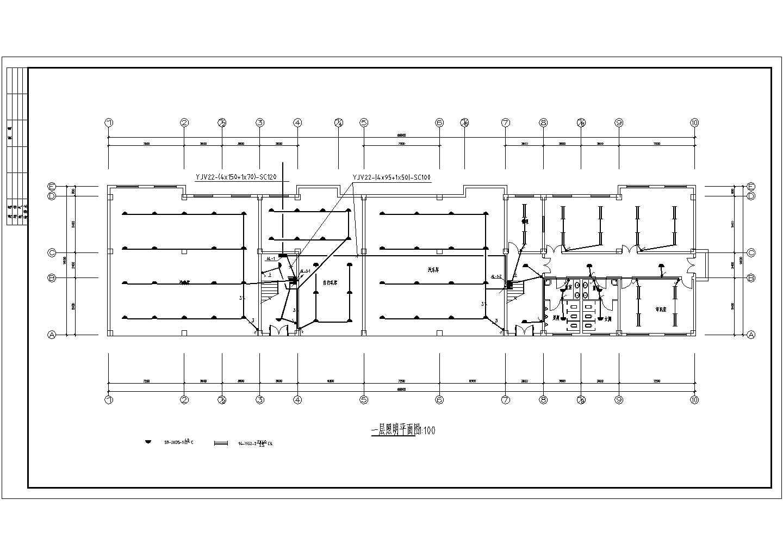 某地上六层办公楼电气施工图纸(三级负荷,29张图纸)图片2