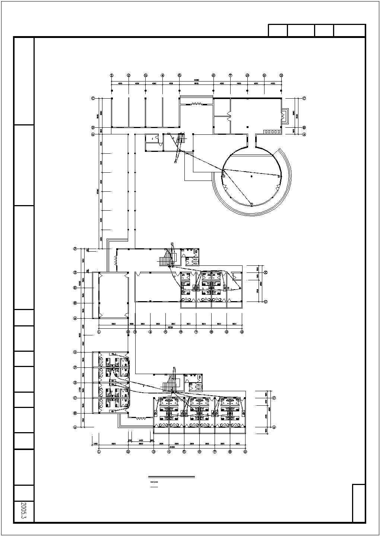 某收费站三层办公楼电气图纸图片1