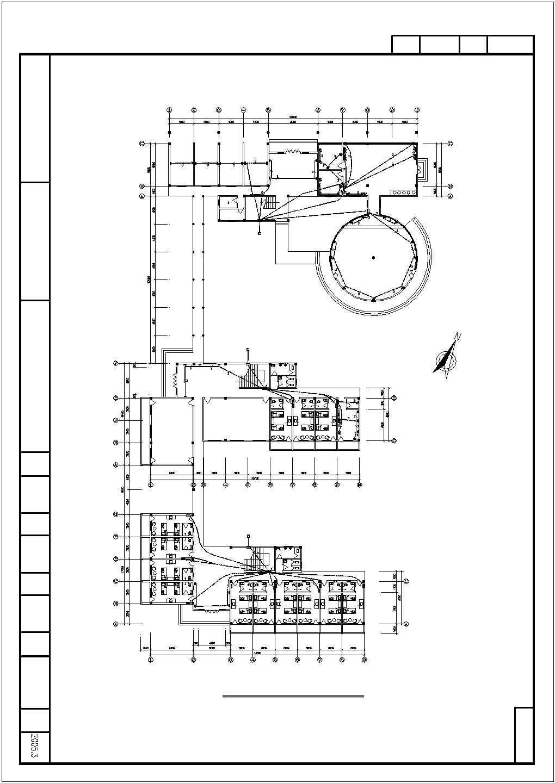 某收费站三层办公楼电气图纸图片2