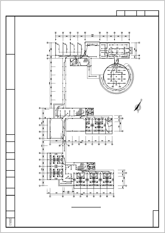 某收费站三层办公楼电气图纸图片3