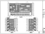 地上八层文化广场外立面穿孔铝板及观光电梯玻璃幕墙装饰工程施工图图片1