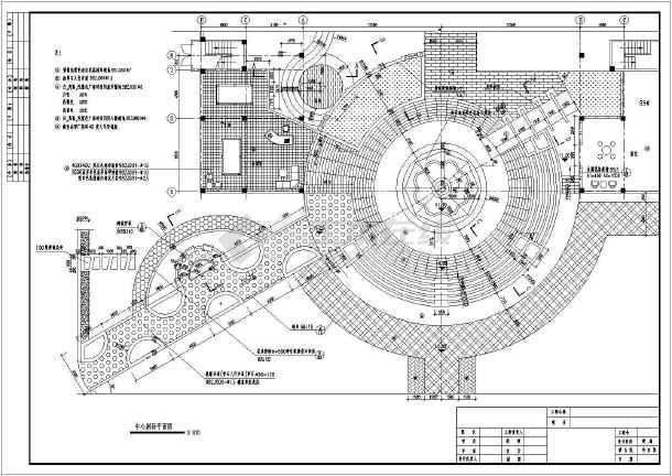 珠海某小区园林广场景观设计施工图-图一