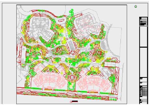 [成都]居住区园林景观植物种植设计施工图-图二