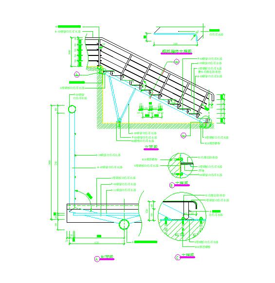 建筑细部构造cad选图集(栏杆大样)图片2
