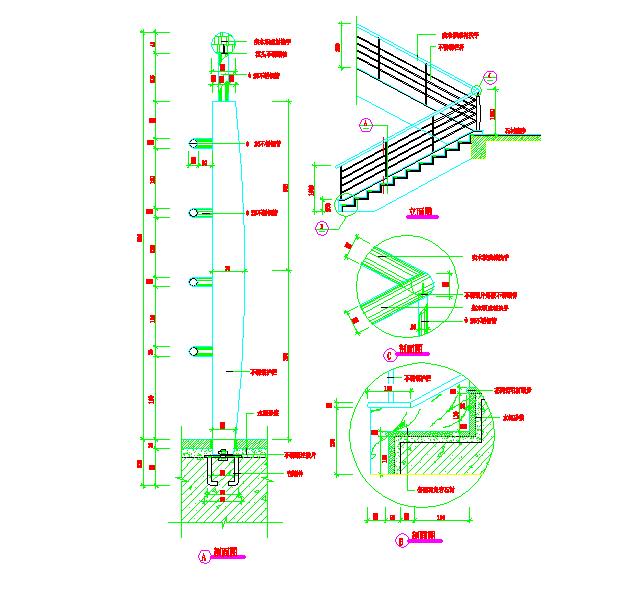 建筑细部构造cad选图集(栏杆大样)图片3