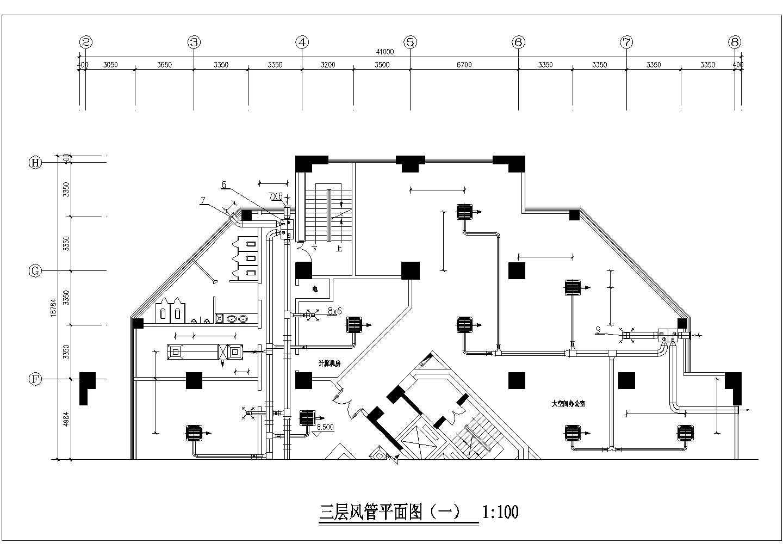 青岛某51941�O三十一层综合楼暖通空调全套图图片3