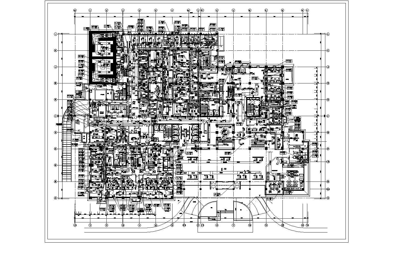 某医院5层通风平面及地下室通风平面图纸图片1