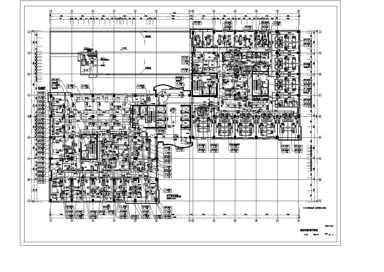 某医院5层通风平面及地下室通风平面图纸图片2