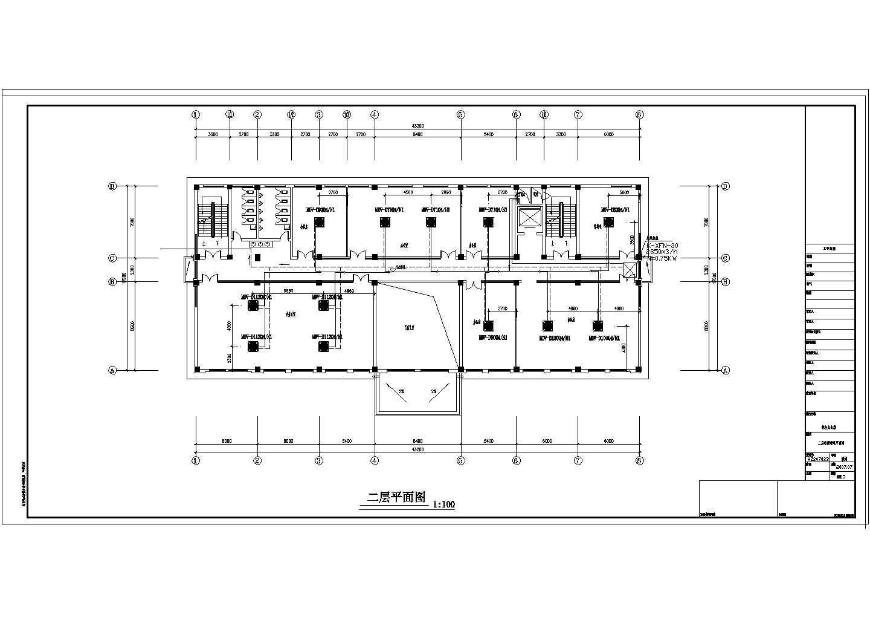 浙江某4000�O五层综合办公楼空调图纸图片2