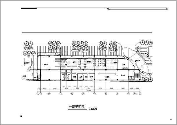 五星级酒店屋顶花园园林景观工程施工图-图1