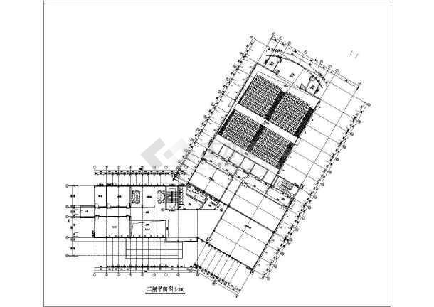某仿古二层酒店会议中心建筑扩初和结构扩初图