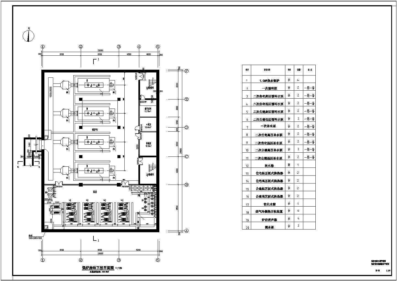 [北京]某43万平米燃气锅炉房热力采暖系统设计图(管线透视图)图片1