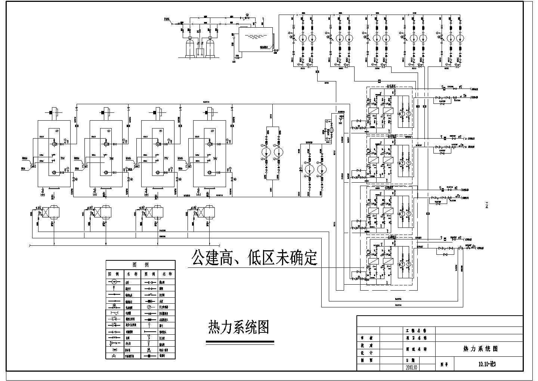 [北京]某43万平米燃气锅炉房热力采暖系统设计图(管线透视图)图片3